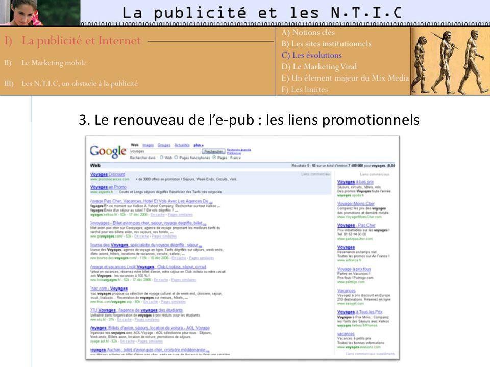 3. Le renouveau de l'e-pub : les liens promotionnels