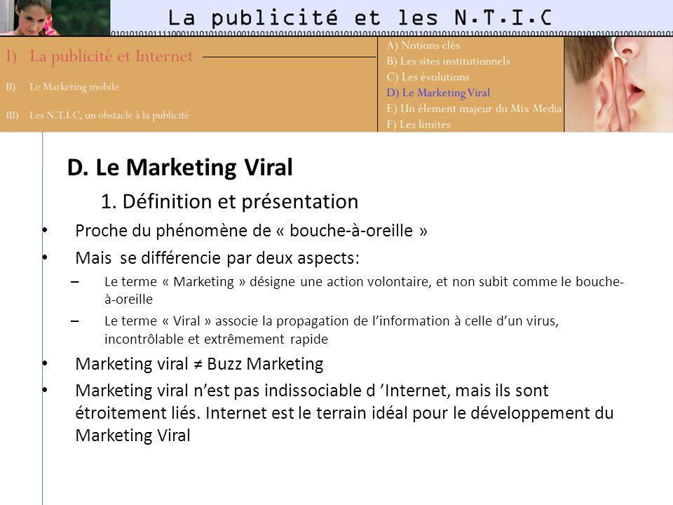 D. Le Marketing Viral 1. Définition et présentation