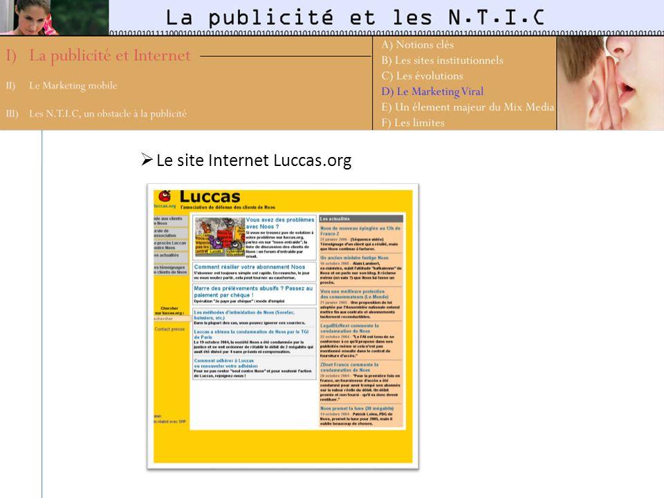Le site Internet Luccas.org