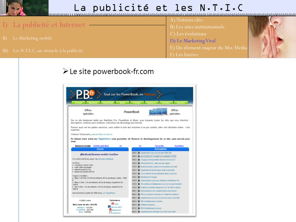 Le site powerbook-fr.com