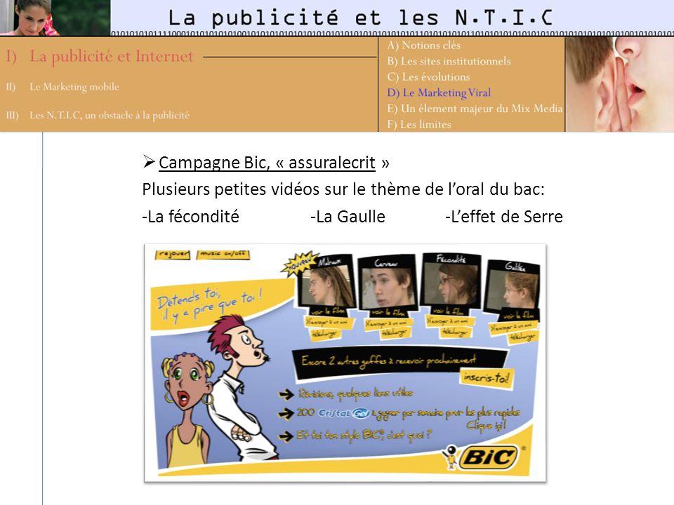 Campagne Bic, « assuralecrit »