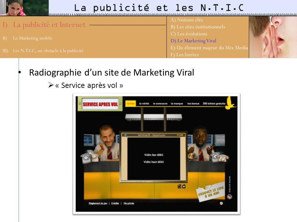 Radiographie d'un site de Marketing Viral