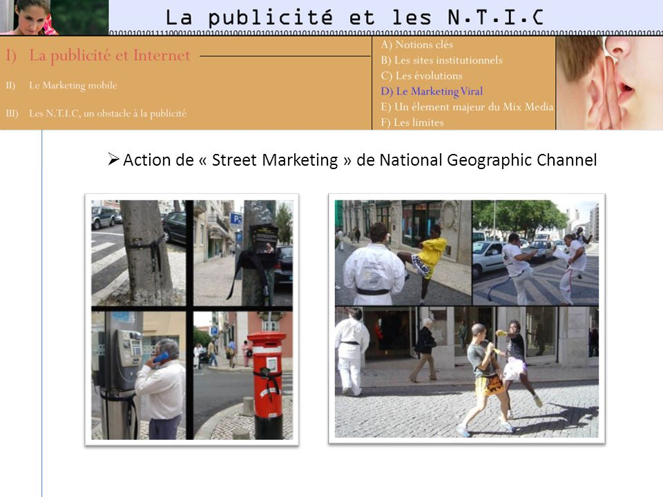 Action de « Street Marketing » de National Geographic Channel