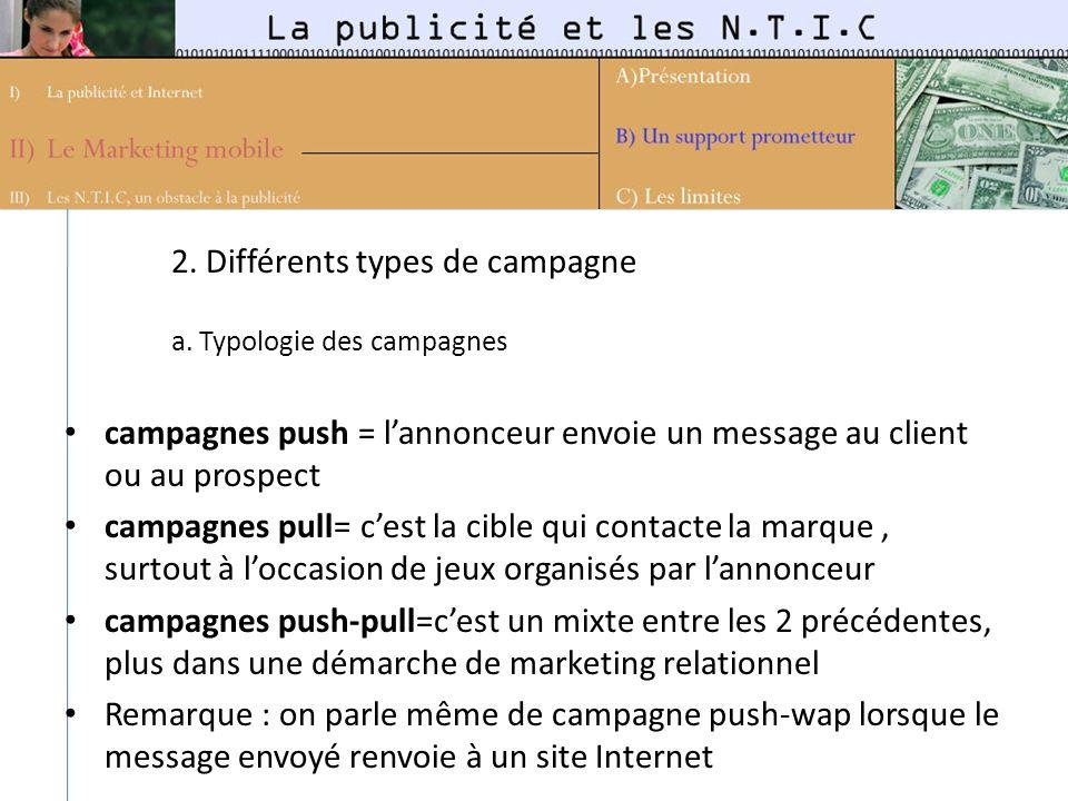 2. Différents types de campagne