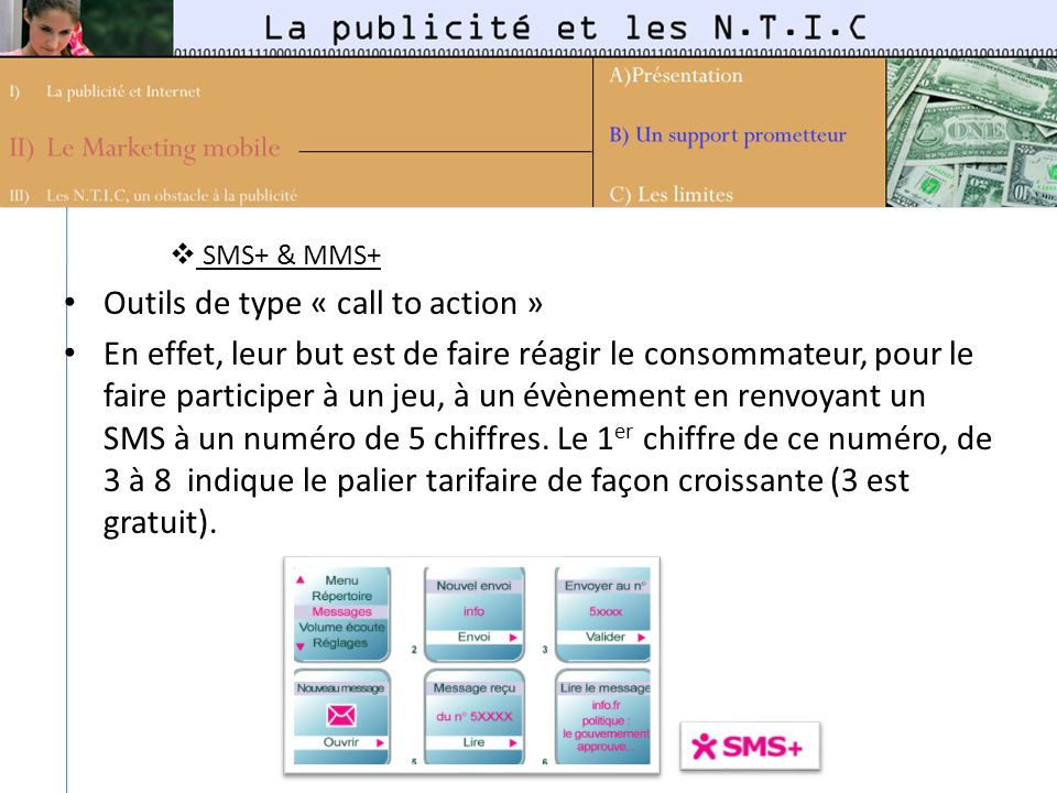 Outils de type « call to action »