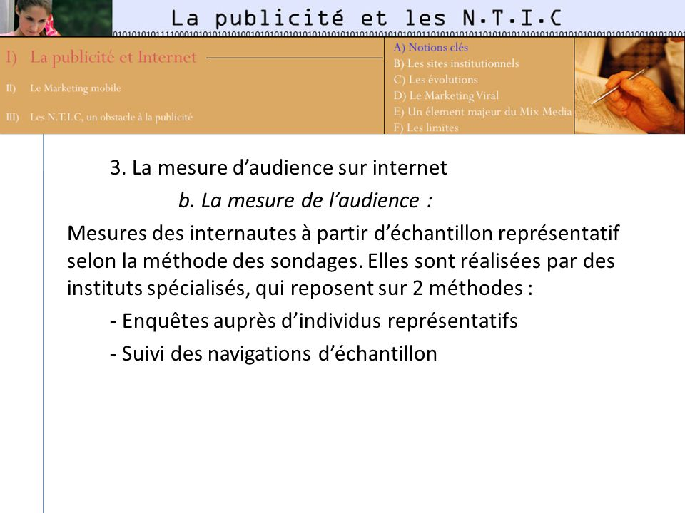 3. La mesure d'audience sur internet