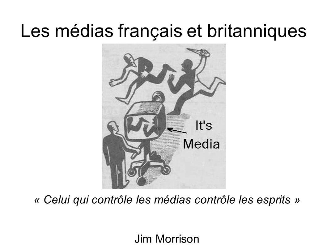 Les médias français et britanniques