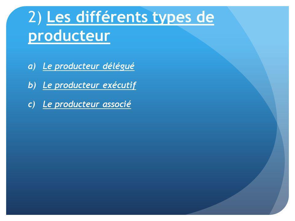 2) Les différents types de producteur