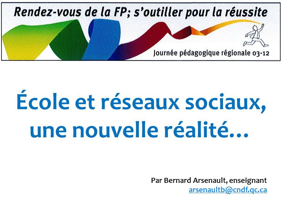 École et réseaux sociaux, une nouvelle réalité…