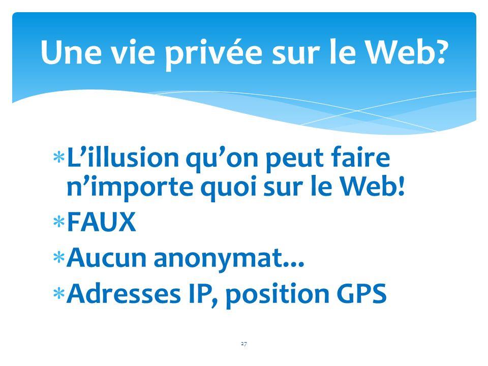 Une vie privée sur le Web