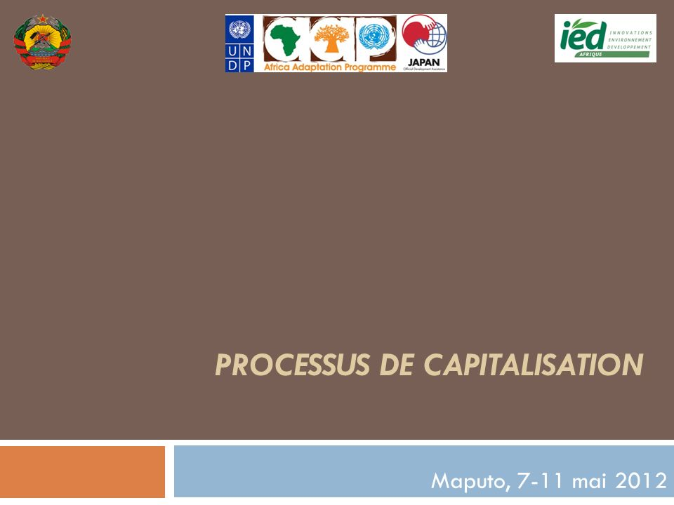 Processus DE Capitalisation