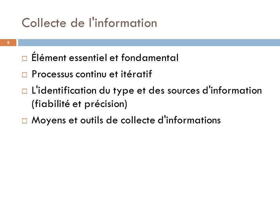 Collecte de l information