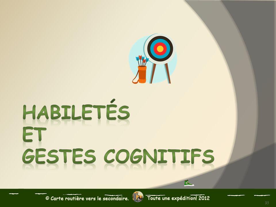 Habiletés et gestes cognitifs