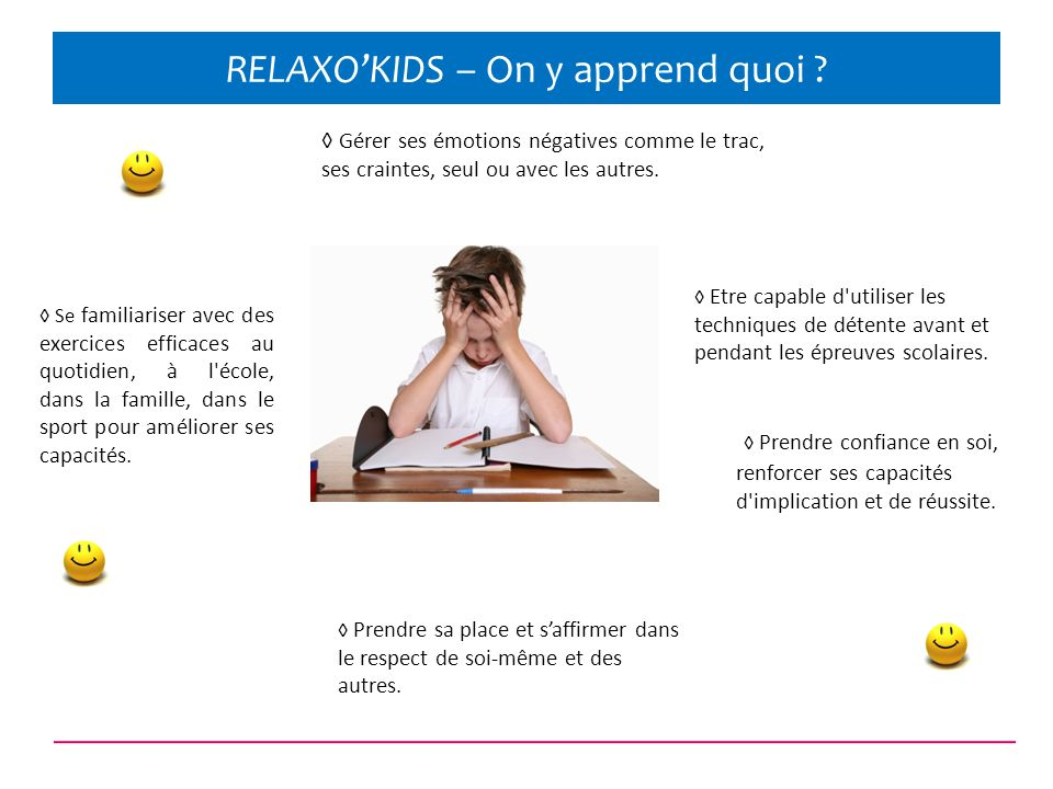 RELAXO'KIDS – On y apprend quoi