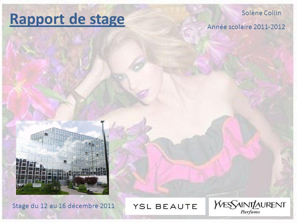 Rapport de stage Solène Collin Année scolaire 2011-2012