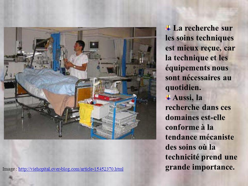 La recherche sur les soins techniques est mieux reçue, car