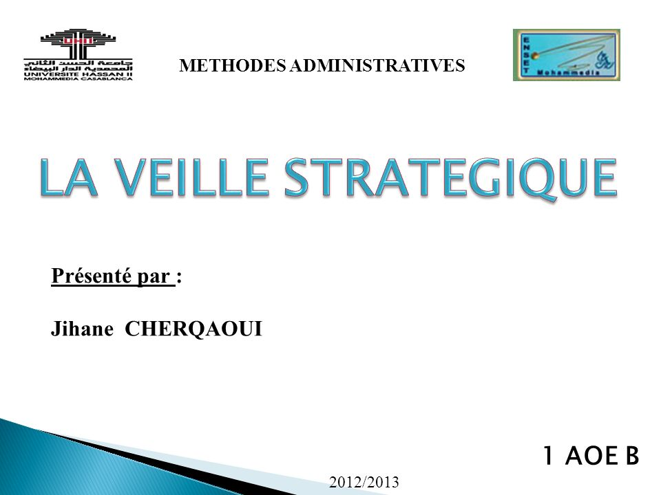 METHODES ADMINISTRATIVES