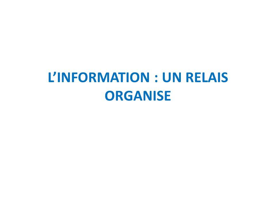 L'INFORMATION : UN RELAIS ORGANISE