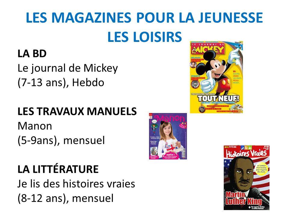 LES MAGAZINES POUR LA JEUNESSE LES LOISIRS