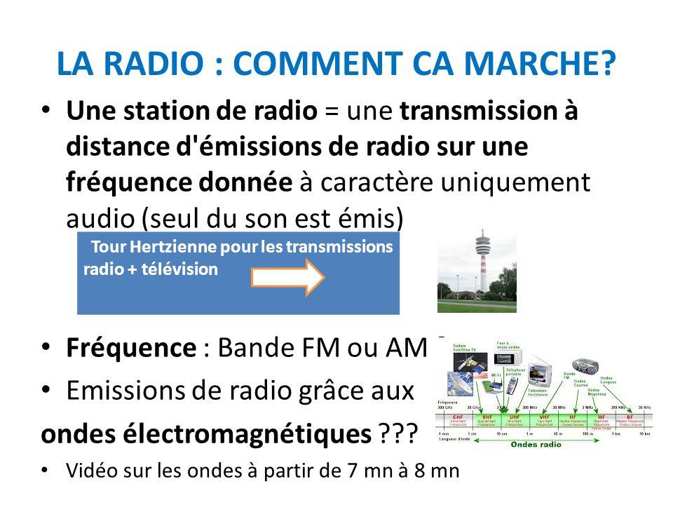 LA RADIO : COMMENT CA MARCHE