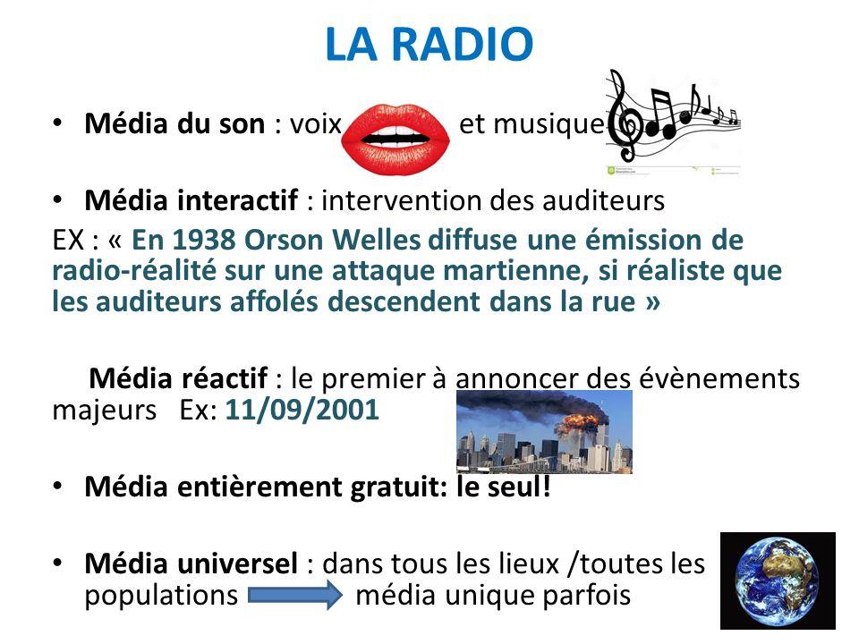 LA RADIO Média du son : voix et musique