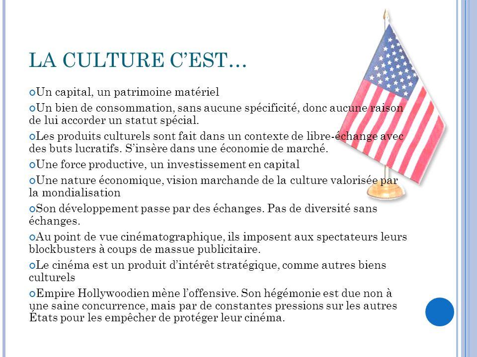 LA CULTURE C'EST… Un capital, un patrimoine matériel