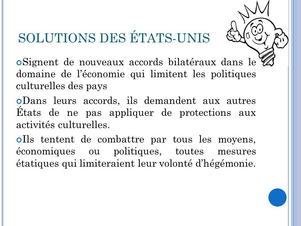 SOLUTIONS DES ÉTATS-UNIS