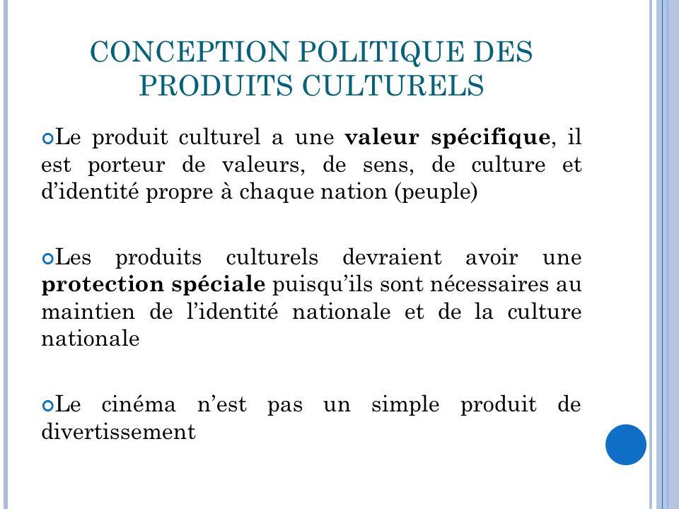 CONCEPTION POLITIQUE DES PRODUITS CULTURELS