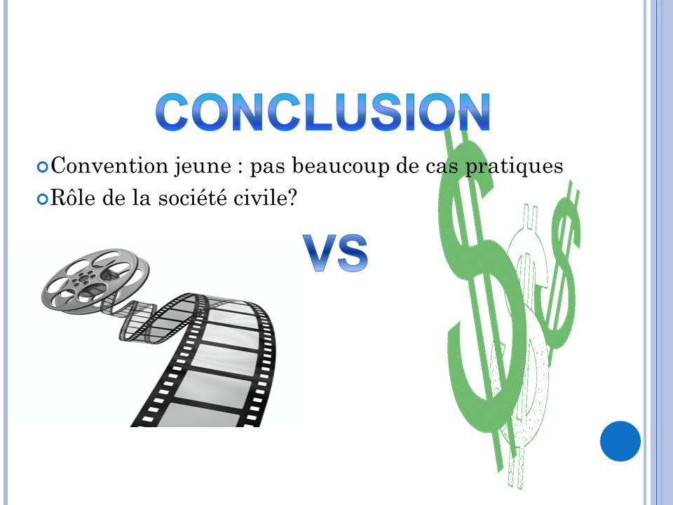 CONCLUSION VS Convention jeune : pas beaucoup de cas pratiques