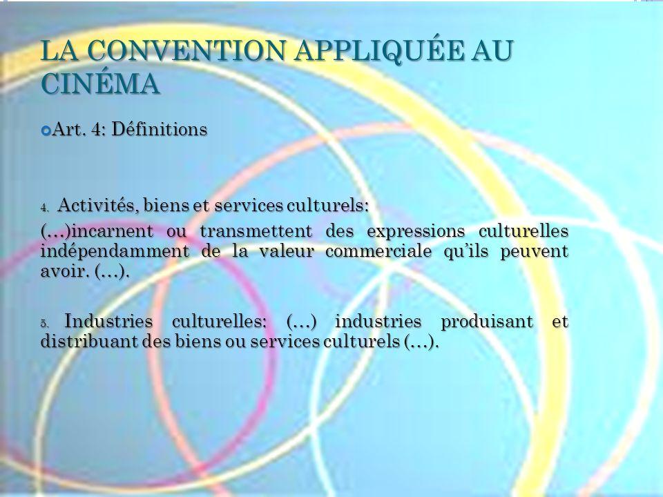 LA CONVENTION APPLIQUÉE AU CINÉMA