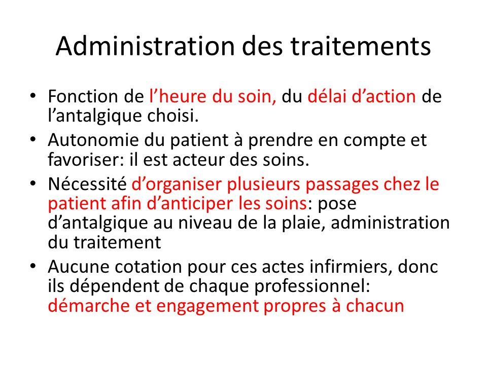 Administration des traitements