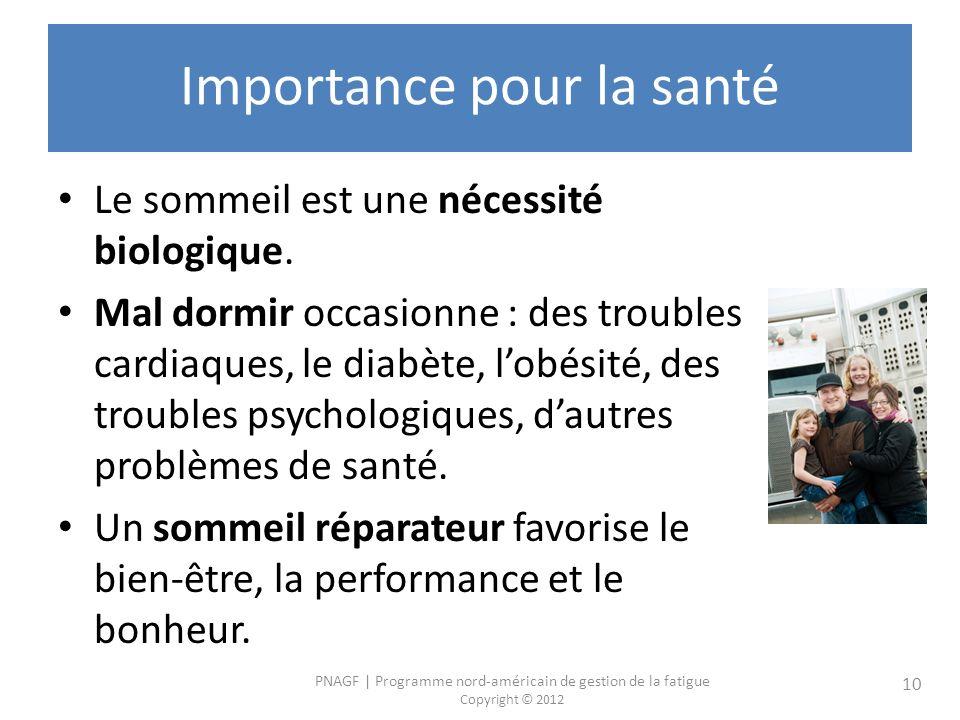 Importance pour la santé