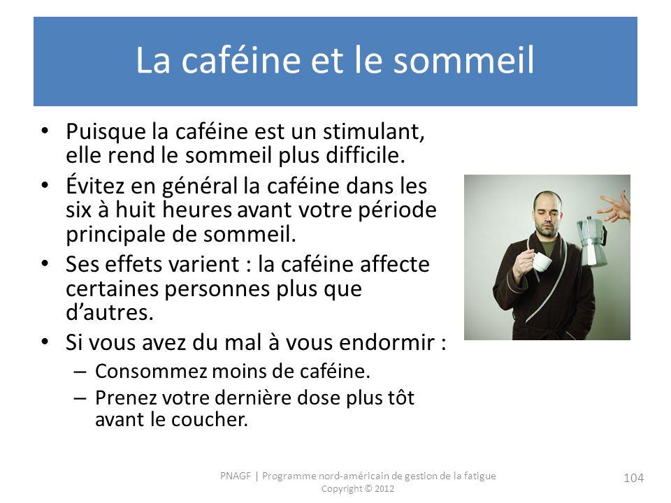 La caféine et le sommeil