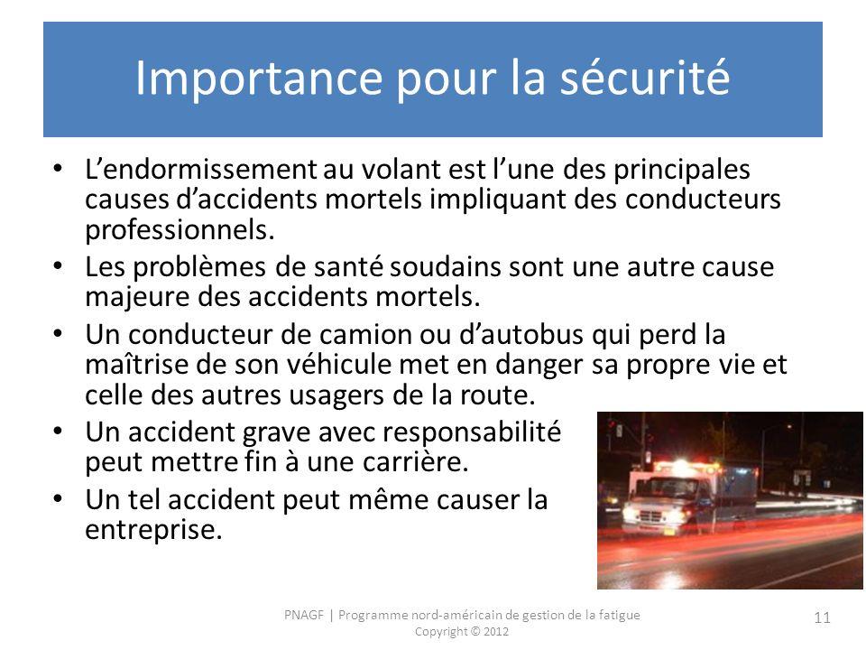 Importance pour la sécurité