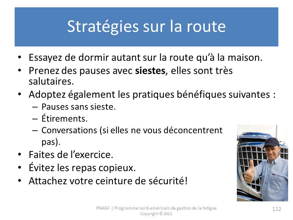 Stratégies sur la route