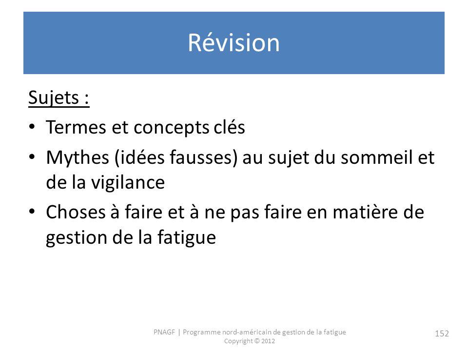 Révision Sujets : Termes et concepts clés