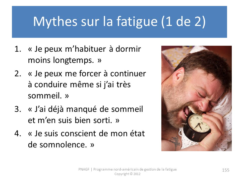 Mythes sur la fatigue (1 de 2)
