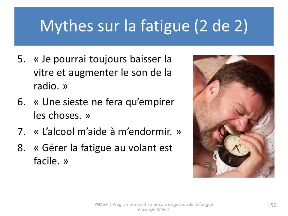 Mythes sur la fatigue (2 de 2)