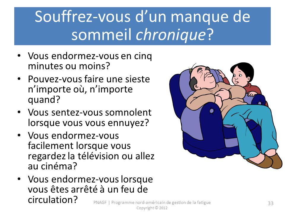 Souffrez-vous d'un manque de sommeil chronique