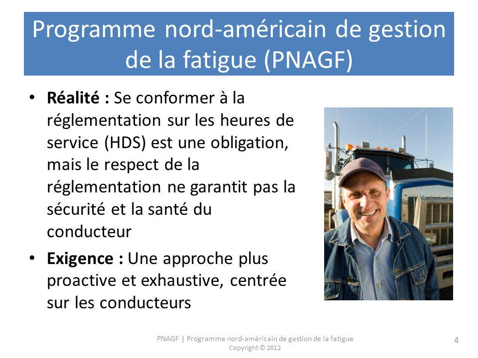 Programme nord-américain de gestion de la fatigue (PNAGF)