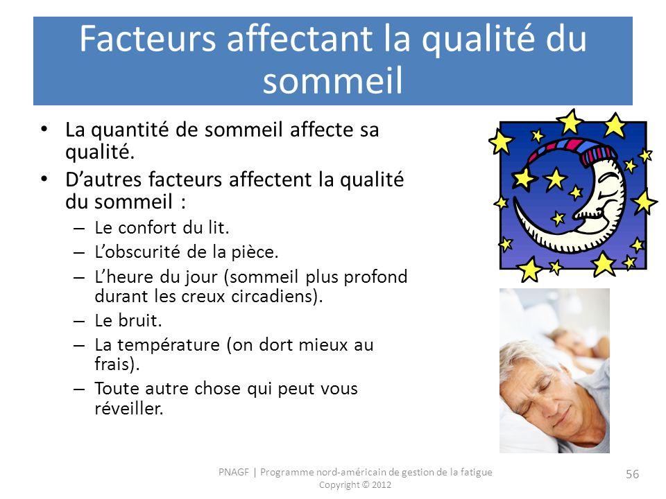 Facteurs affectant la qualité du sommeil