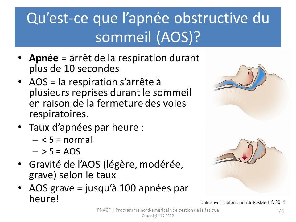 Qu'est-ce que l'apnée obstructive du sommeil (AOS)