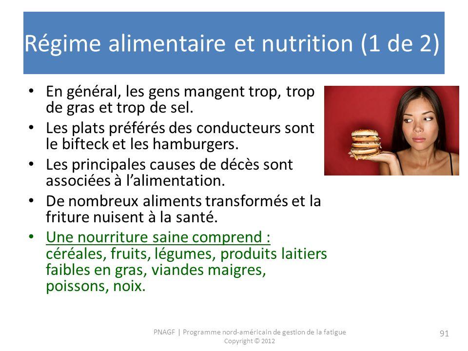 Régime alimentaire et nutrition (1 de 2)