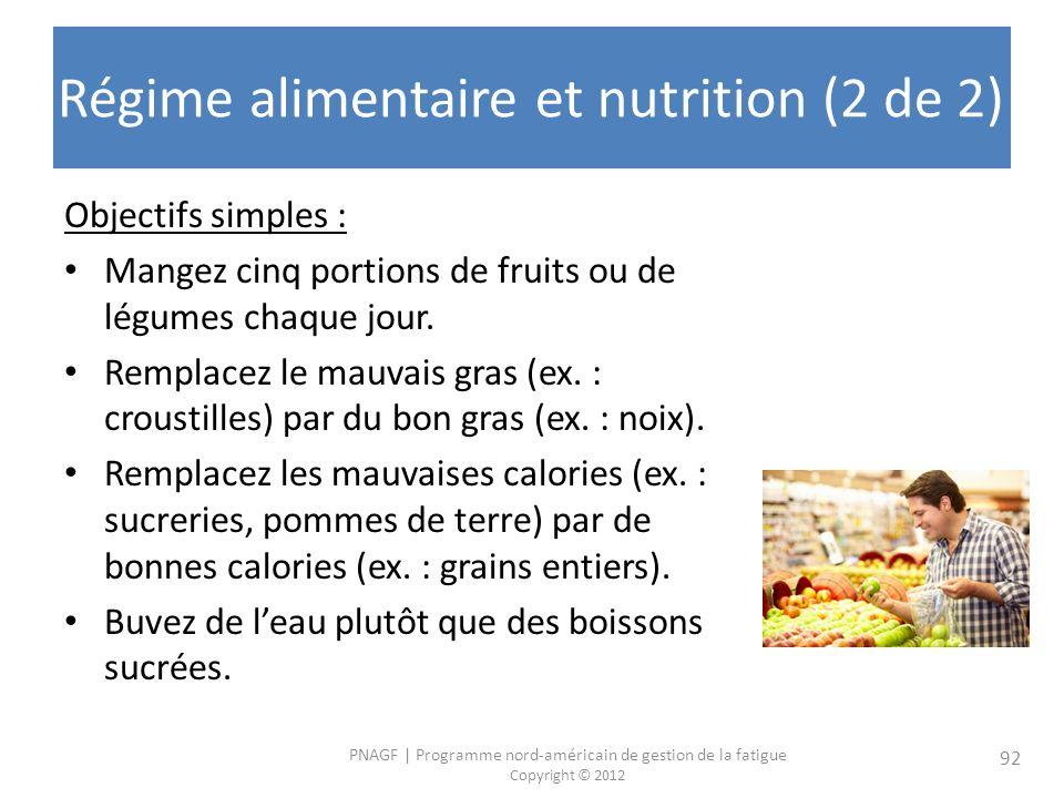 Régime alimentaire et nutrition (2 de 2)