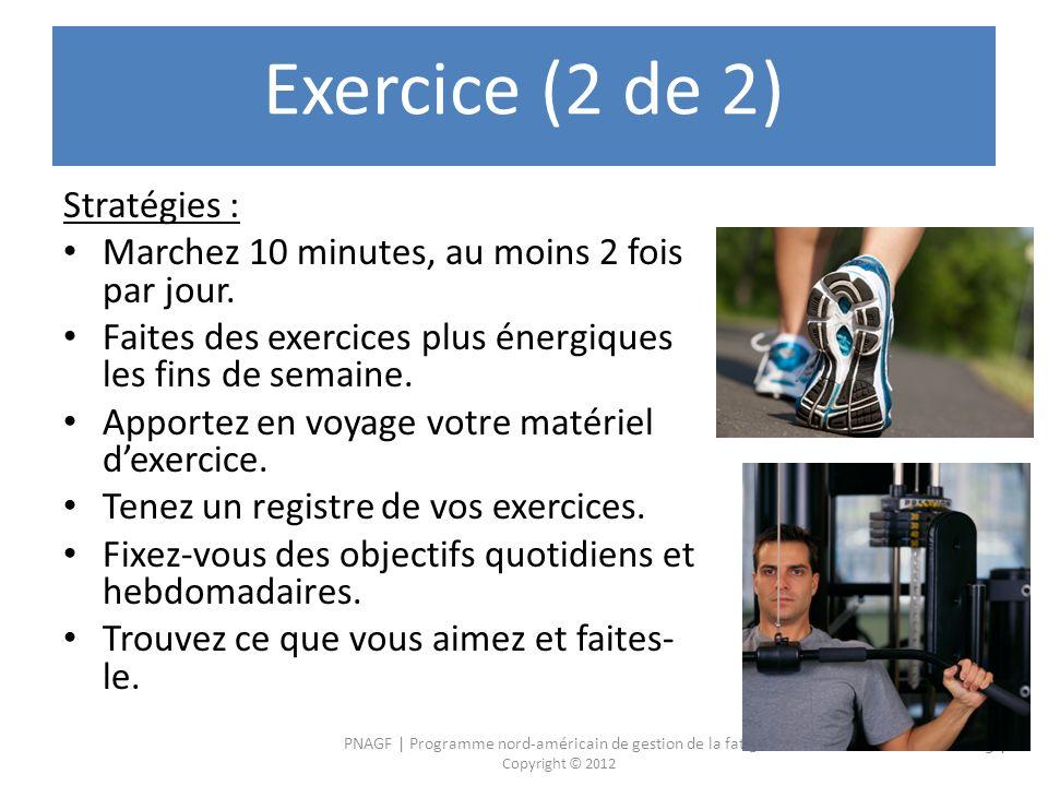 Exercice (2 de 2) Stratégies :
