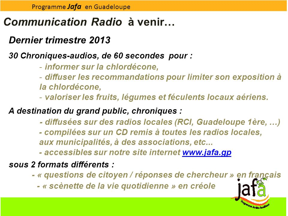 Communication Radio à venir…