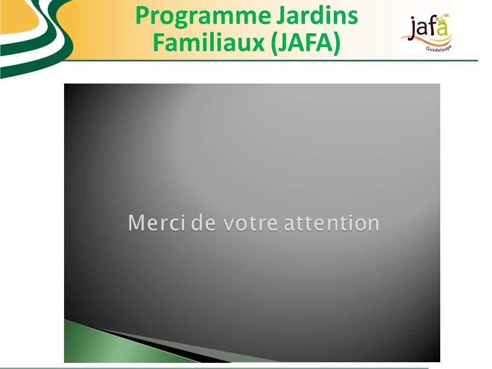 Programme Jardins Familiaux (JAFA)