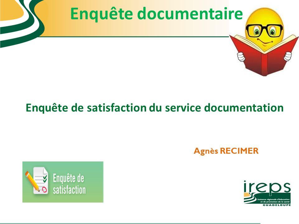 Enquête de satisfaction du service documentation