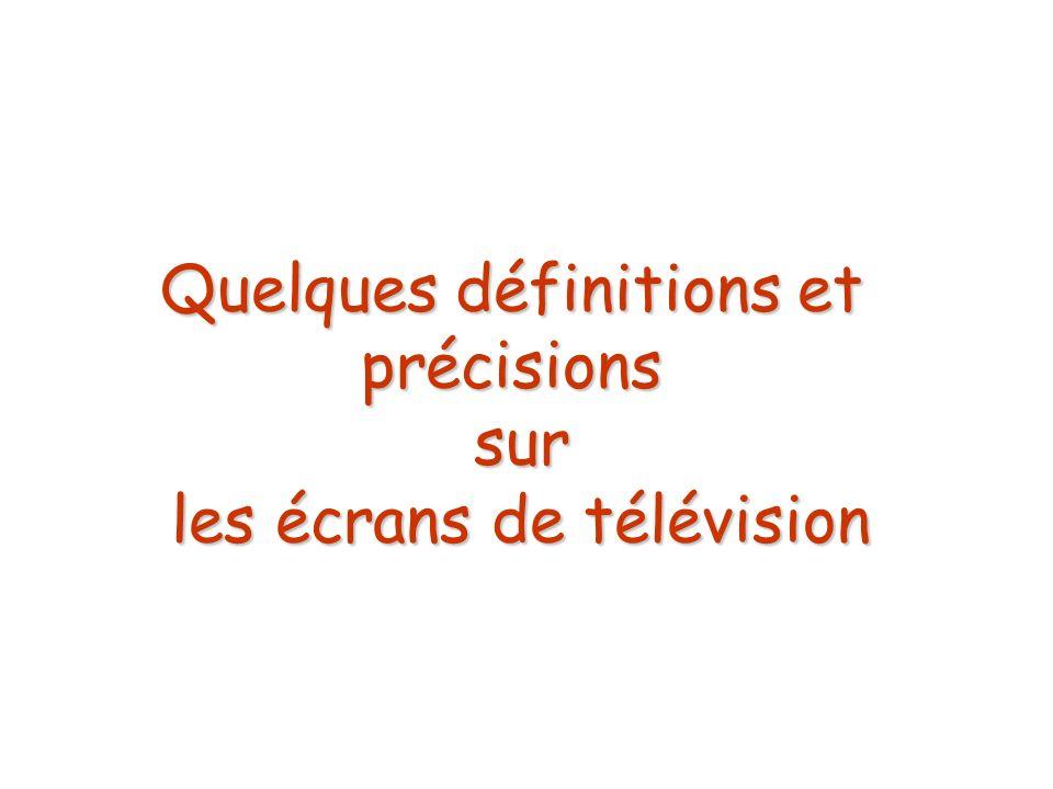 Quelques définitions et précisions sur les écrans de télévision