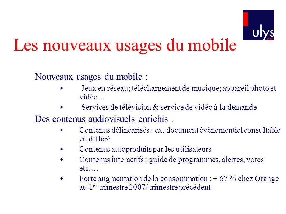 Les nouveaux usages du mobile